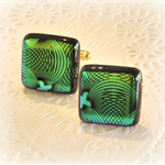Artisan Glass Cufflinks by Curly Jo