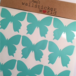 30 Mint Butterflies - Ready to Post - Wall Decals