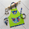 Kids/Toddlers Apron Dinosaur Walk - lined kitchen/craft/art/play - two pockets