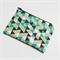 Greens & Grey Geometric Zipped Pouch or Pencil case