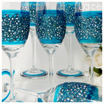 Personalised Champagne Toasting Flutes and Gift Boxes - Lace x 3