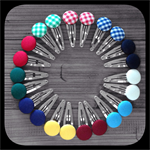 School Uniform and House Colours: Large Snap Clips