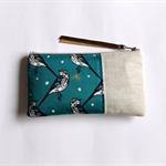 Linen zipper pouch