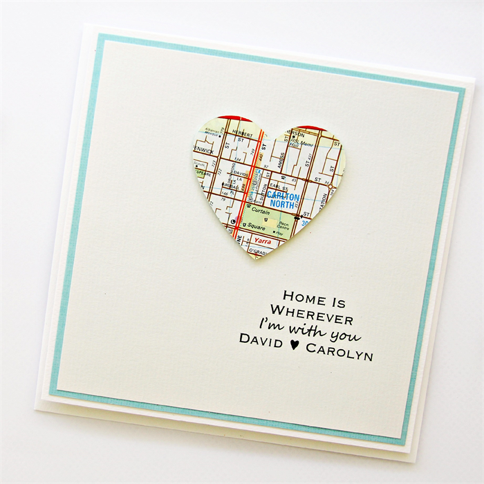 Love map custom card home is wherever melbourne valentine