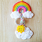 Rainbow & Sunny Cloud Hair Clip Holder