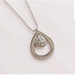 Stunning Stainless Steel Personalised Pendant with Beautiful Tear Drop Design