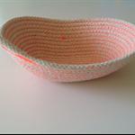 Orange Oval Rope Bowl