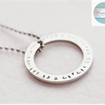 Silver Names Pendant & Necklace, Add Own Names / Message