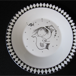 Mermaid and Kite on a Jasper Conran Wedgwood plate