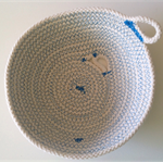 Blue Wave Rope Bowl