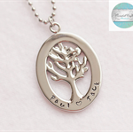 Luxurious Silver Names Large Tree of Life Pendant