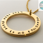 Large Gold Names Pendant & Necklace, Add Own Names Personalised Message Gift
