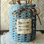 Hand Crochet Covered Jar