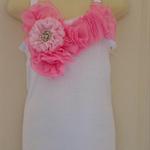 Girls embellished singlet tops