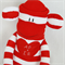 Valentines Sock Monkey with Personalised Name Patch, Soft Toy