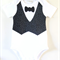 Boys Onesie with Vest and Bow Tie Applique