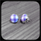 Lilac and White Gingham: Bezel Set Studs