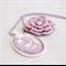 silver foil floral pendant