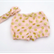 Gorgeous Pink Gold Spots Shorties Nappy Cover with matching knotted headband