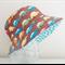 Boys summer hat in bright car fabric