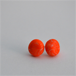 Handmade Earrings - Orange Marble polymer clay