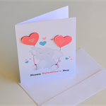 Valentines Day Elephant Card
