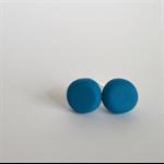 Handmade Earrings - Turquoise polymer clay