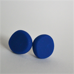 Handmade Earrings - Blue polymer clay