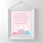 Nursery/Kids Room Wall Art Print - Let her sleep