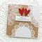 Wedding card kraft doilies rustic vintage bride groom commitment ceremony