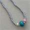 Girls bead silver bead necklace