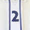 Boys Singlet with Blue Stripy Suspenders & Personalised Number/Letter Applique