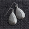 Silver Patterned Teardrop  Earrings