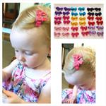 """A Little Bit Fancy"" sequin bow hair clips"