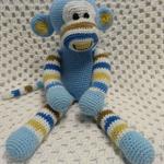 Monkey, Baby Boy Gift, Baby Safe Toy, Boy Baby Shower Gift