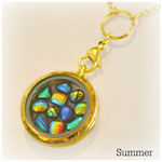 LOCKET Artisan Glass Pendant by Curly Jo