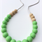 Washable Silicone & Natural Wood Necklace - Mint