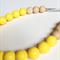 Silicone & Natural Wood Teething Necklace - Lemon