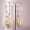 Wedding Earrings. Pearl Chandelier & Swarovski Crystal Rondel.