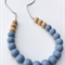 Silicone & Natural Wood Teething Necklace - Cloud