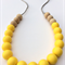 Silicone & Natural Wood Teething Necklace - Lemon