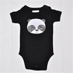 Panda onesie in black Sizes 0m - 24m