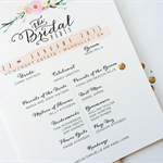 Double Sided Typography Wedding Program Fan