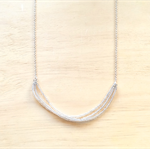 CLEAR LONG COLOUR BASICS NECKLACE - FREE SHIPPING WORLDWIDE