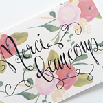 """Merci"" Typography Thank You Card"