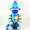 'Billy' the Sock Monkey (orange/lime/turquoise/blue stripes) - *ready to post*