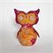 Peaches the Stuffed Owl Decorative Toy