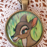 Fawn from Bambi Resin Necklace (Disney)
