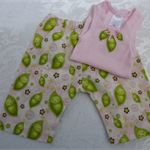 New Born-Peas in a Pod Harem Pants & Appliqued Singlet
