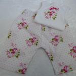 New Born-Sunshine Roses Harem Pants & Appliqued Singlet